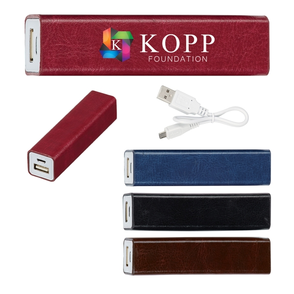 Leatherette Charge-N-Go Power Bank