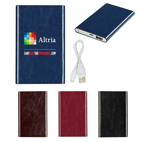 Leatherette Slim Power Bank