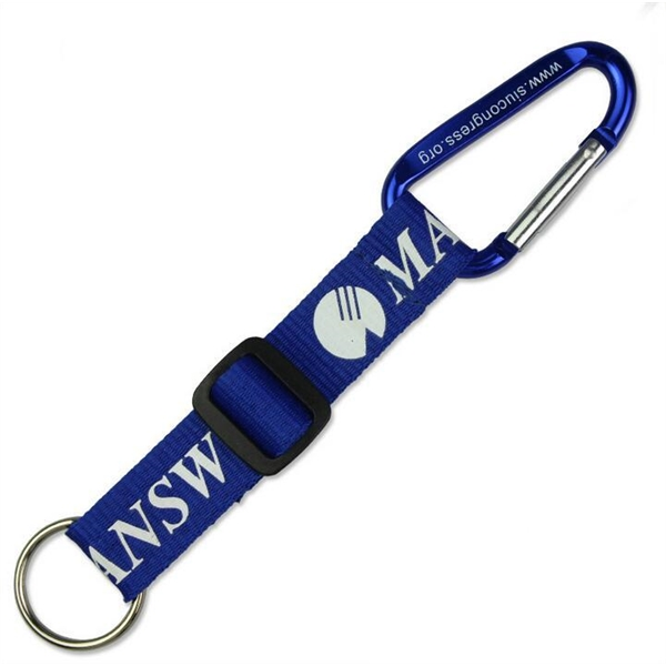Carabiner Key Ring with Adjustable Strap