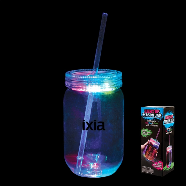 22 oz. Light-Up Mason Jar