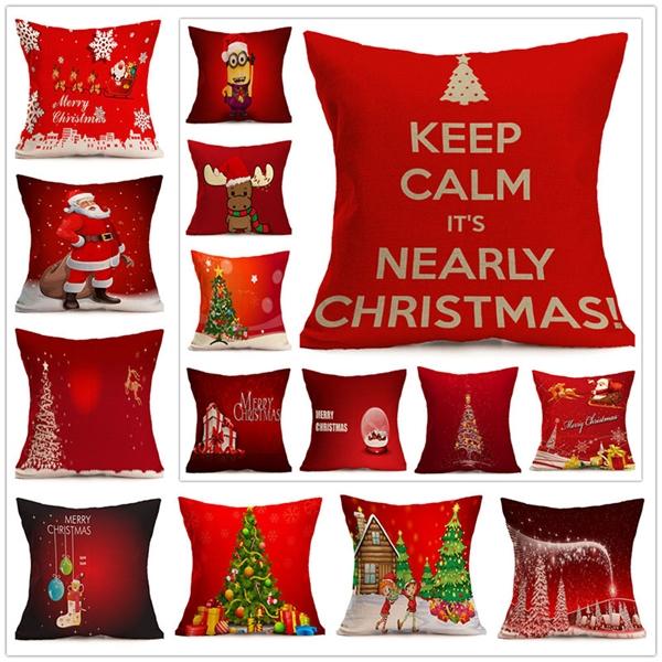 Christmas Cotton Throw Pillow