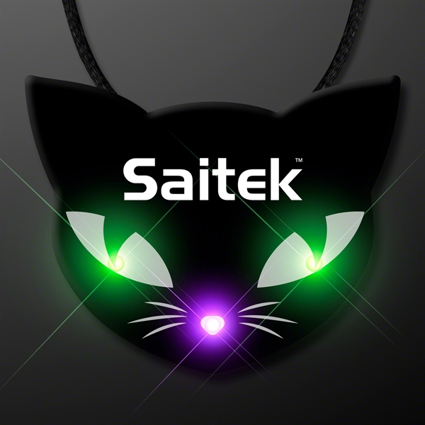 Spooky Cat Eyes Necklace, LED Halloween Jewelry