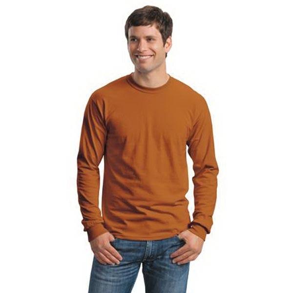 Gildan - Ultra Cotton 100% Cotton Long Sleeve T-Shirt.