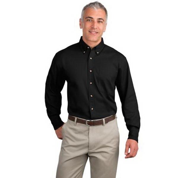 Port Authority Long Sleeve Twill Shirt.