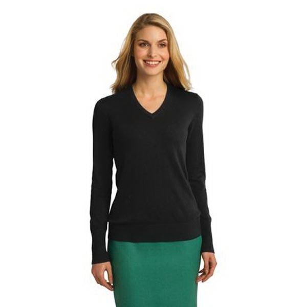 Port Authority Ladies V-Neck Sweater.