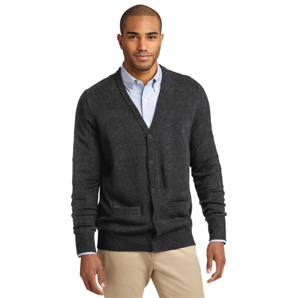 Port Authority Value V-Neck Cardigan Sweater with Pockets.