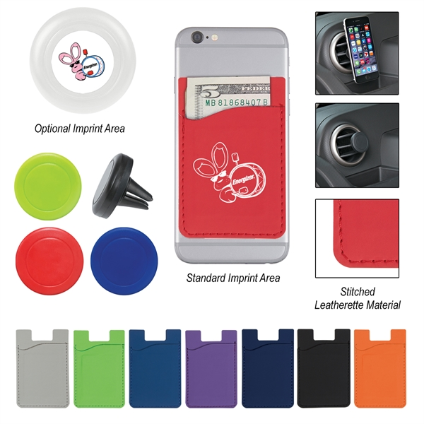 Magnetic Auto Air Vent Phone Wallet With Custom Box