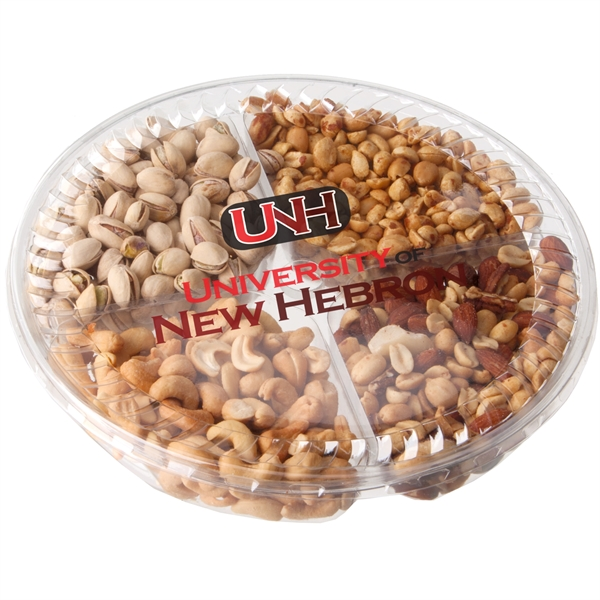Four Way Plastic Tray With Gourmet Nuts