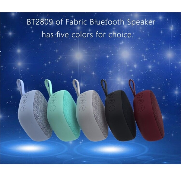 Portable Waterproof Fabric Bluetooth Speaker