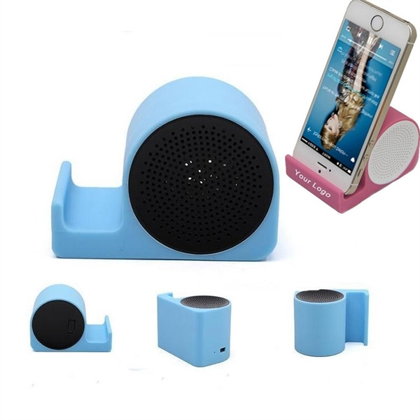 Silicone Wireless Speaker and Phone Stand