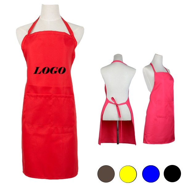 Sleeveless Apron With Two Pockets