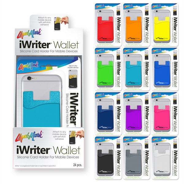 iWriter Wallet - Silicone Card Holder for Mobile Devices
