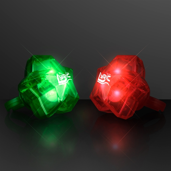 LED Sparkling Stars Christmas Rings, Assorted Colors
