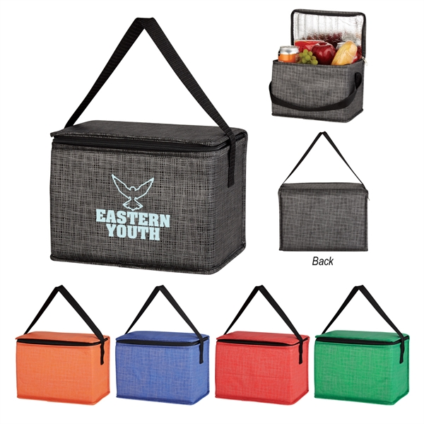 Non-Woven Crosshatched Lunch Bag