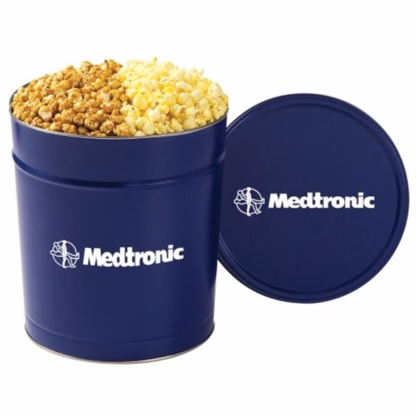 2 Way Popcorn Tin / 3.5 Gallon