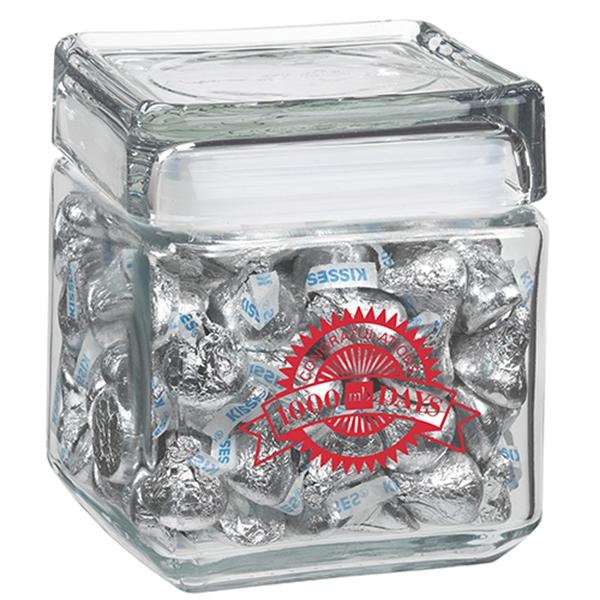 32 oz Square Glass Jar