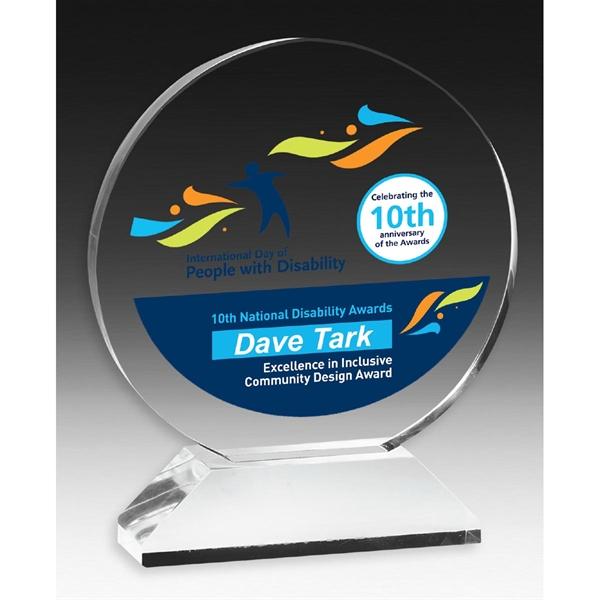 Round Award on Elevated Base