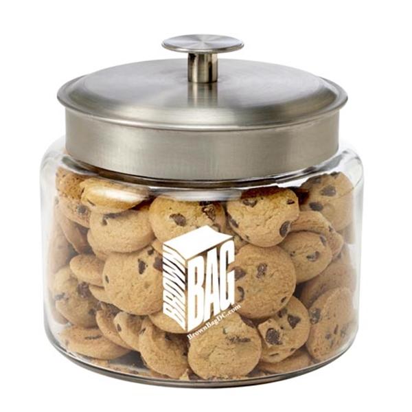 Glass Cookie Jar / Mini Chocolate Chip Cookies (1 lb 10 oz)