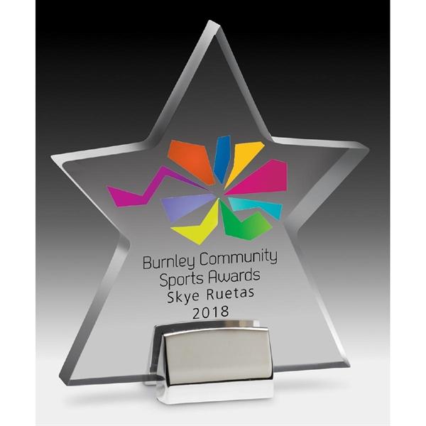 Star Award with Chrome Base