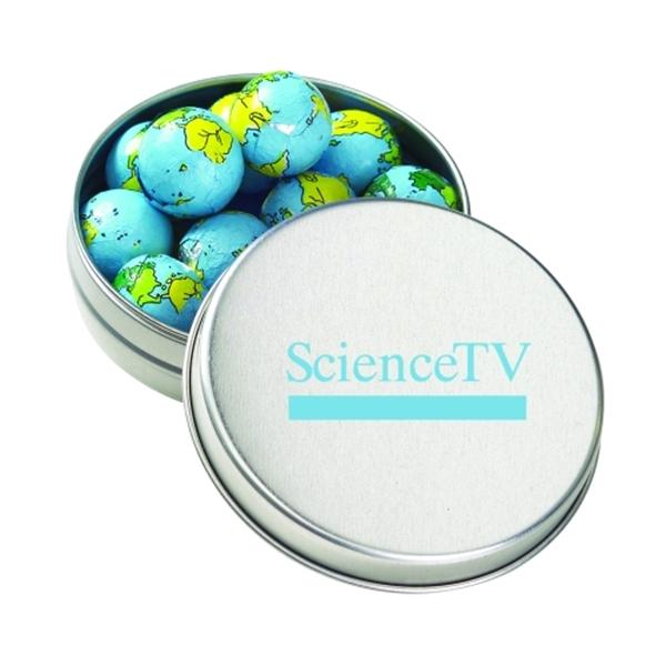 Medium Round Tin / Chocolate Earth Balls
