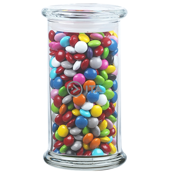 1 lb 5 oz. Chocolate Buttons in Glass Status Jar
