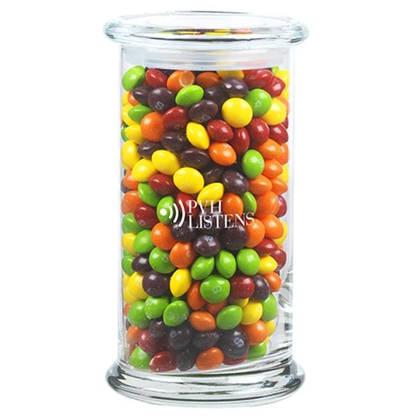 1 lb 2.8 oz. Skittles® in Glass Status Jar