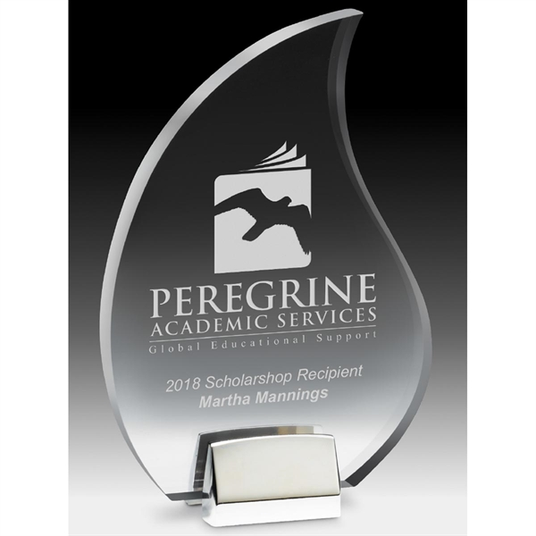 Flame Award with Chrome Base
