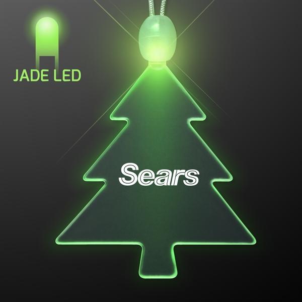 Acrylic Christmas Tree Shape Necklace with LED