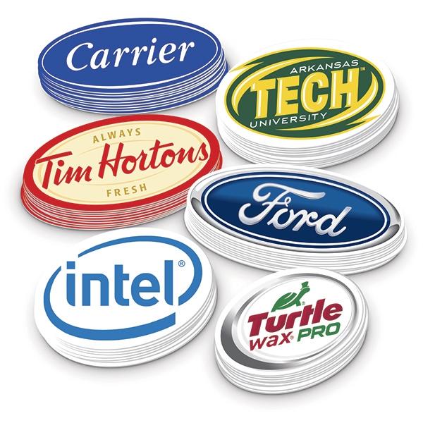Oval Stickers - Custom