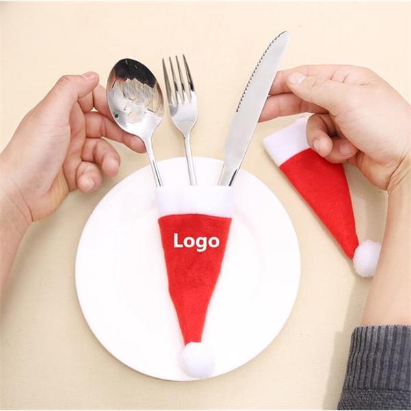 Christmas Caps Cutlery Holder