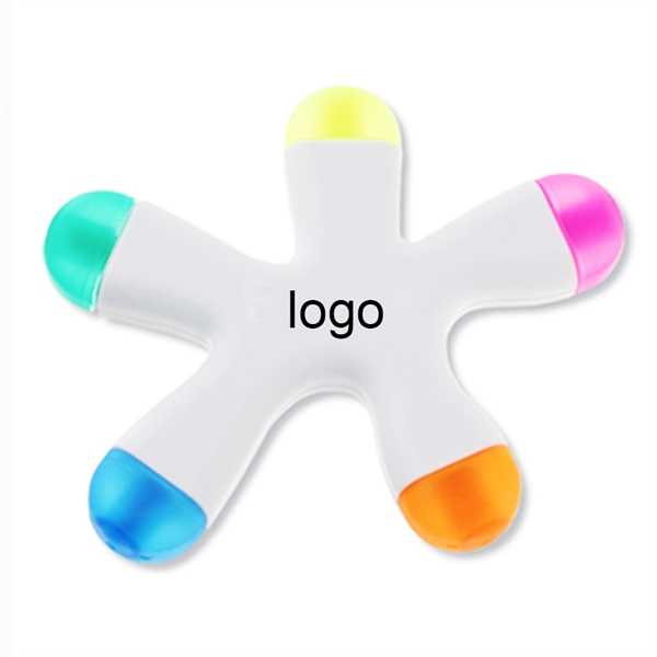 Funky Shaped Five color Highlighter