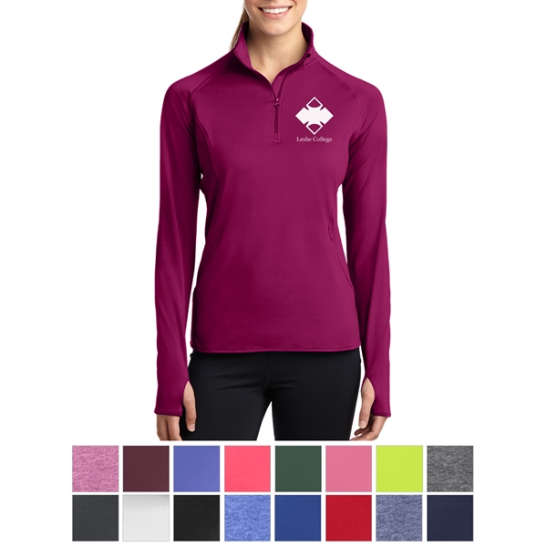 Sport-Tek Ladies' Sport-Wick Stretch 1/2-Zip Pullover