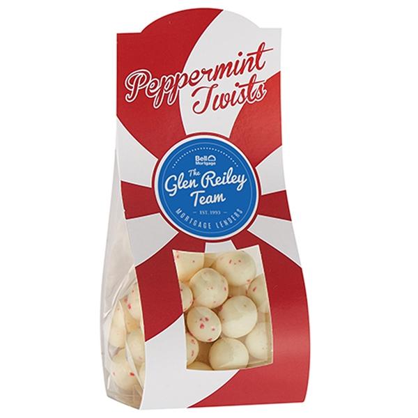 Small Candy Desk Drop w/ Peppermint Twists (3.5 oz.)