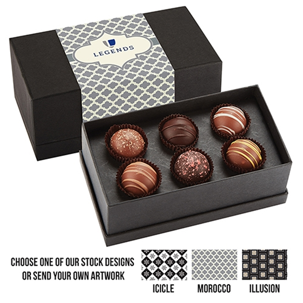 6 Piece Belgian Chocolate Truffle Box