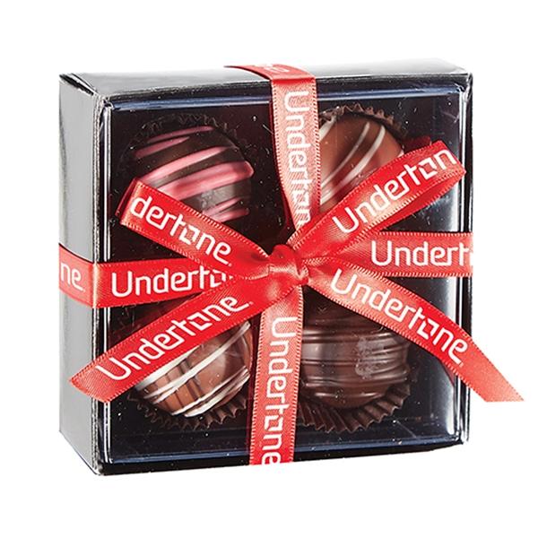 4 Piece Elegant Belgian Chocolate Truffle Box