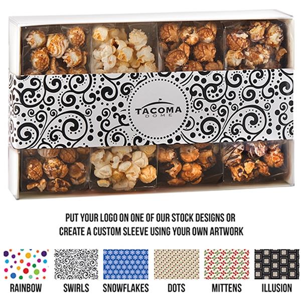4 Way Contemporary Popcorn Gift Box - Gourmet