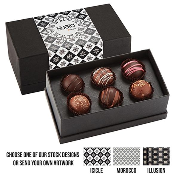 6 Piece Belgian Chocolate Truffle Box
