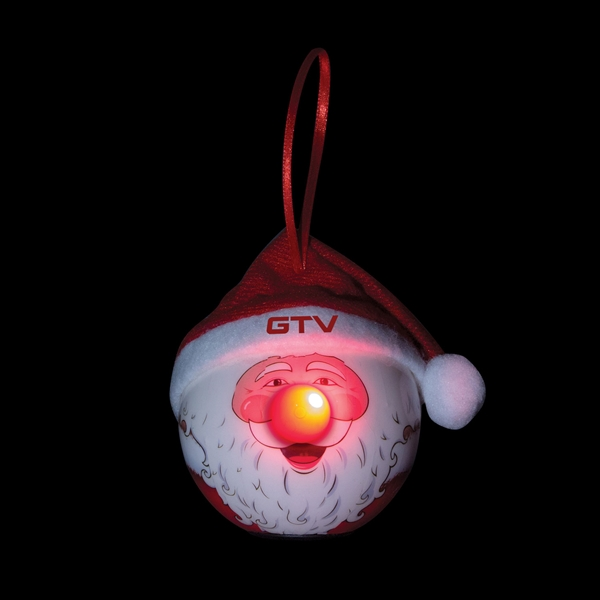 Santa LED Ornament with Hat