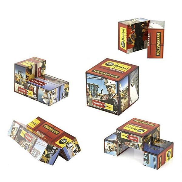 Custom Folding Cube Puzzle