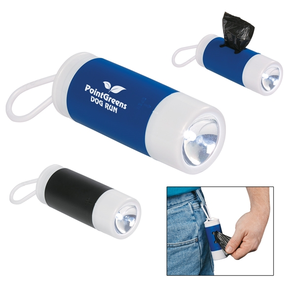 Dog Bag Dispenser With Flashlight