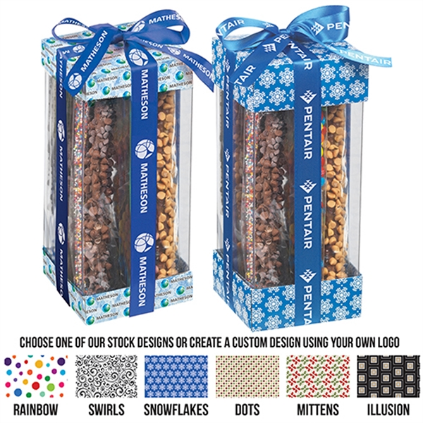 Executive Treat Containers with Pretzel Rods
