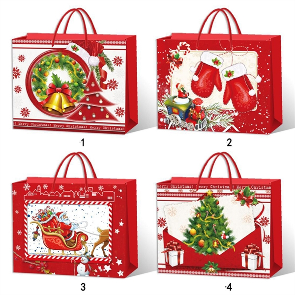 Ivory Board Christmas Shopping  Gift Bags