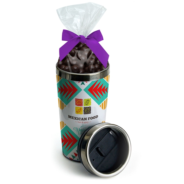 16 oz. Paper Insert Steel Tumbler With Candy Bag