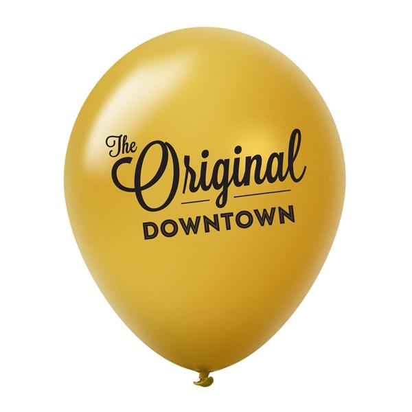 10'' Custom Printed Latex Balloons - Metallic Colors