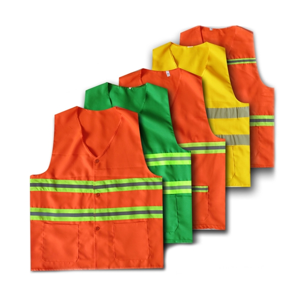 Reflective Safety Vest with Two Pockets