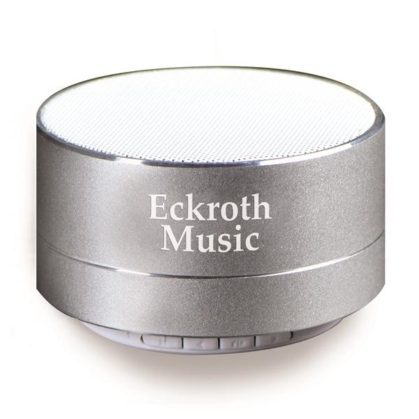 Round Bluetooth® Speaker with LED Light