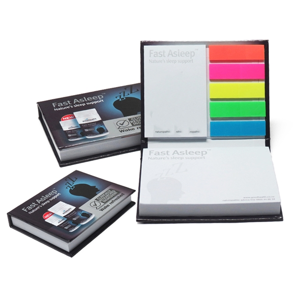 Sticky Notepad w/ Hard Cover