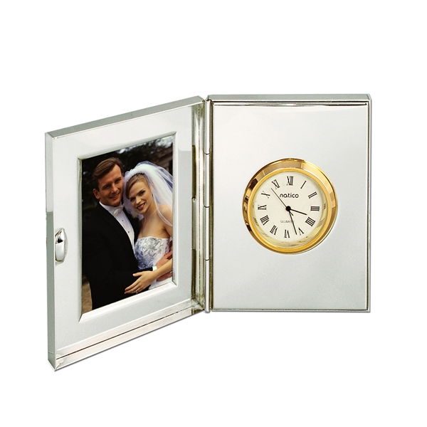 Clock & Picture Frame, Silver