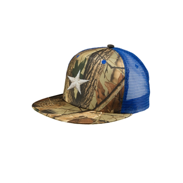Camo Structured Twill Mesh Trucker Hat