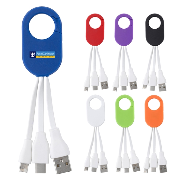2-In-1 Charging Buddy With Carabiner Clip